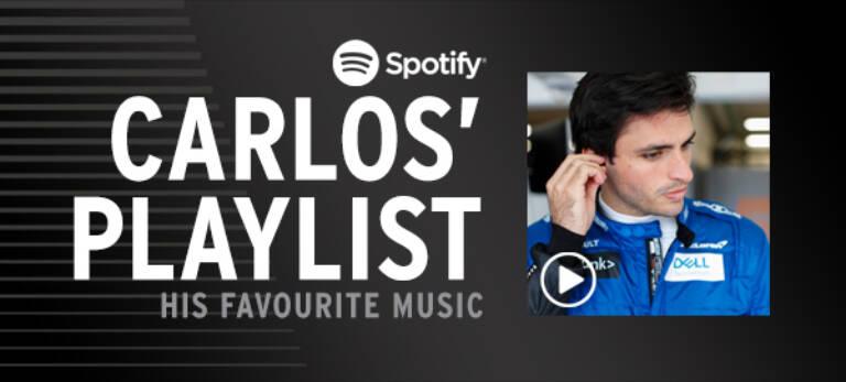 Carlos Sainz Spotify Playlist Graphic Mobile