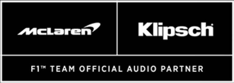 Klipsch and Mc Laren F1 Team Official Audio Partner