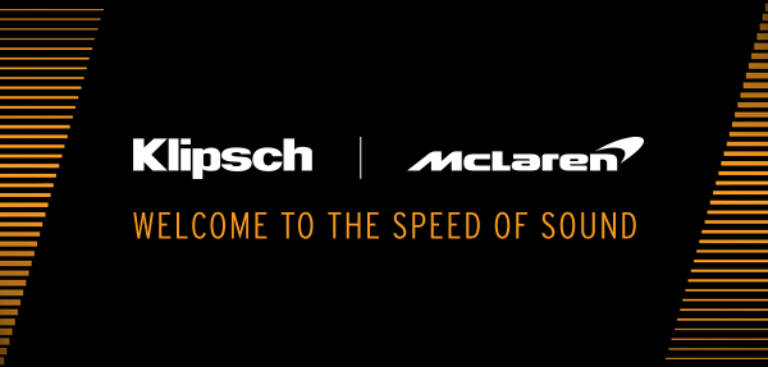 Klipsch and Mc Laren Welcome to the Speed of Sound Mobile