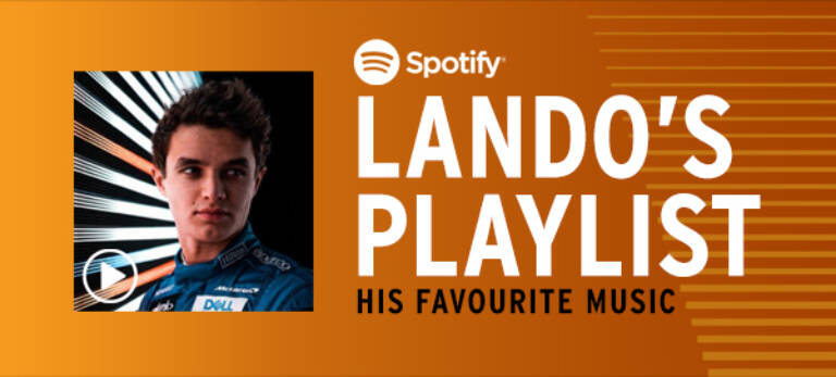 Lando Norris Spotify Playlist Graphic Mobile