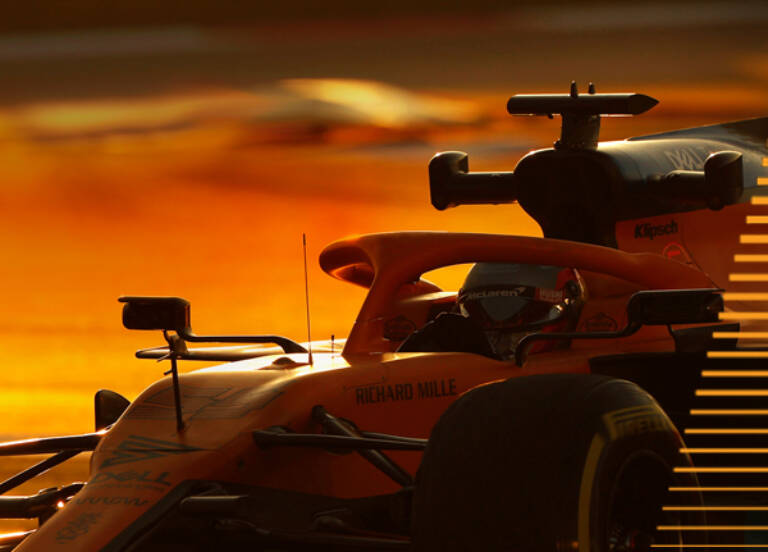 Mc Laren Formula 1 car on track 1 Mobile