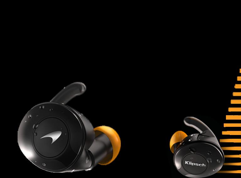 T5 II sport mclaren earbuds with racing stripe mobile