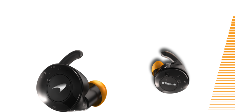 T5 II sport mclaren earbuds with racing stripe